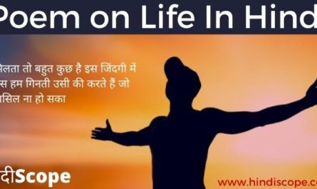 Poem On Life In Hindi