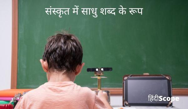 संस्कृत में साधु शब्द के रूप- Sadhu Shabd Roop